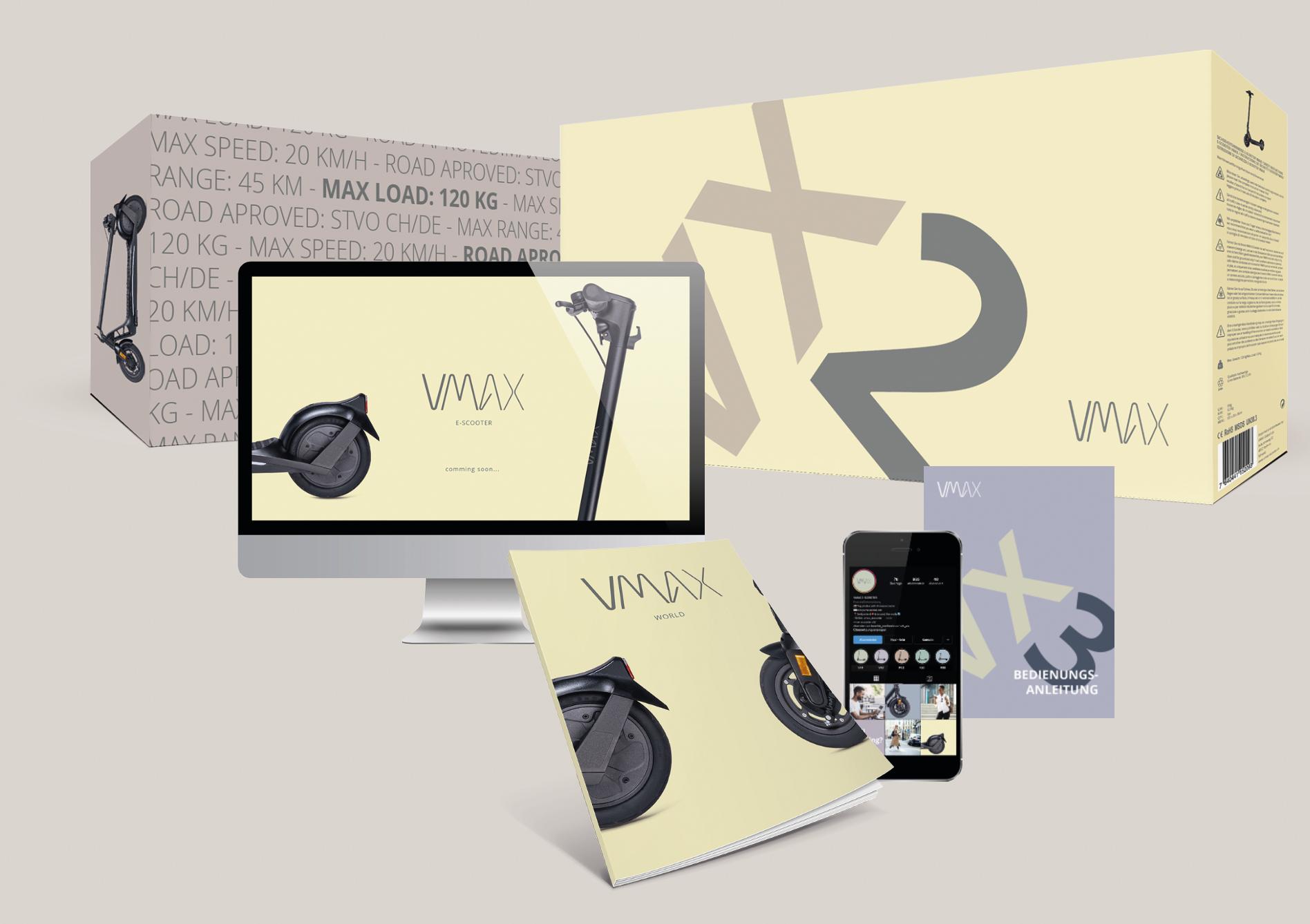 Mock Up des neuen Markenauftritts von VMAX